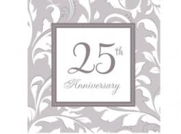 25 anos guardanapos