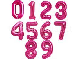 balao numero rosa