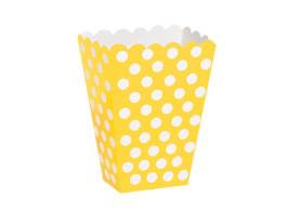 caixa amarela bolinhas