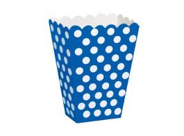 caixa azul bolinhas