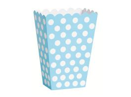 caixa azul claro bolinhas