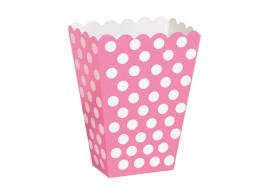 caixa rosa bolinhas