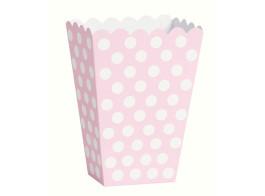 caixa rosa claro bolinhas