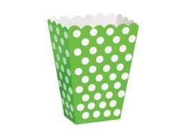 caixa verde bolinhas