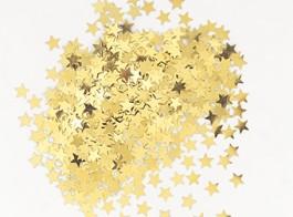 confetti estrelas dourado