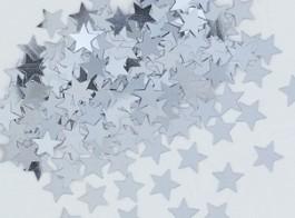 confetti estrelas prateado