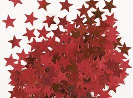 confetti estrelas vermelho