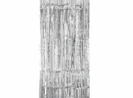 cortina prateada 2.4x91cm