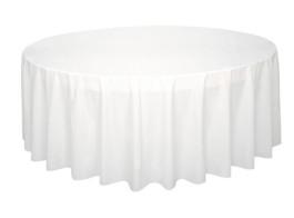 toalha redonda branca