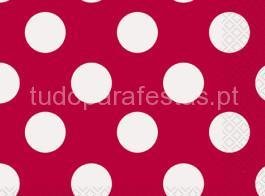guardanapo vermelho bolinhas