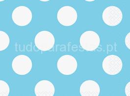 guardanapo azul bolinhas