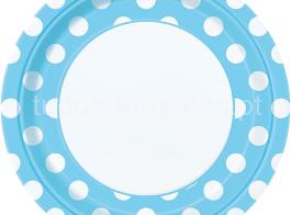 prato azul bolinhas grd