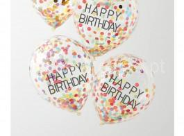 balao confetti colorido happy birthday