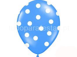 balao latex dots azul
