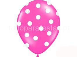 balao latex dots rosa