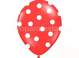balao latex dots vermelho