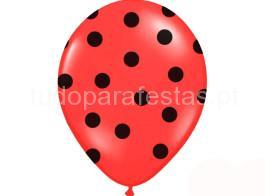balao latex dots vermelho preto
