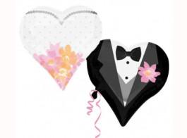 casamento balao noivo e noiva