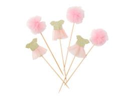 toppers menina rosa bailarina_