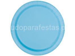 azul claro prato 22cm