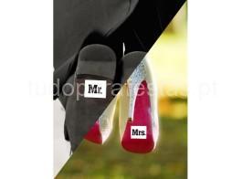 casamento autocolante mr mrs