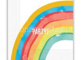 arco iris foil guardanapos