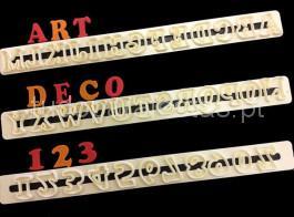 cortador abecedario art deco maisculas
