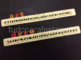 cortador abecedario art deco minusculas
