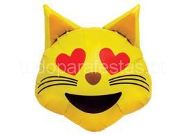 emoji gato olhos coraçao