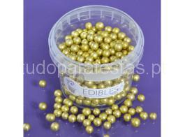 perolas douradas 6mm