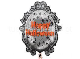halloween balao moldura