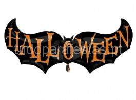 halloween balao morcego hallo