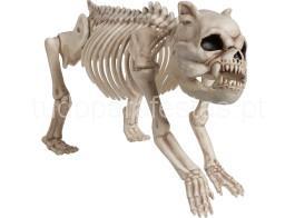 halloween cao esqueleto