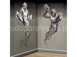 halloween cenario fantasmas