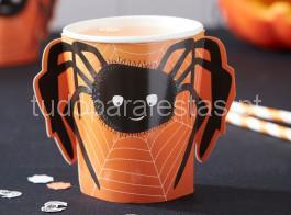halloween copos aranha