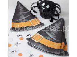 halloween guardanapos chapeu