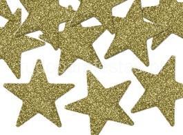 ano novo estrelas douradas glitter
