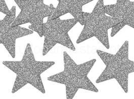 ano novo estrelas prateadas glitter
