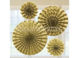 rosetas dourado glitter