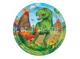 dinossauro prato 17cm