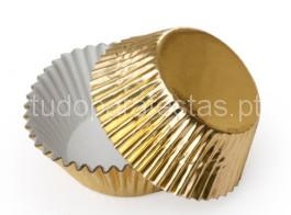 forma cupcakes dourado