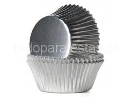 forma cupcakes prateado
