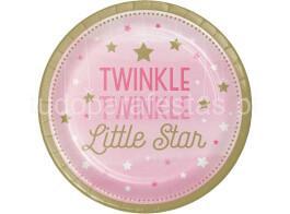 little star rosa pratos 22cm