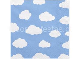 nuvens guardanapos