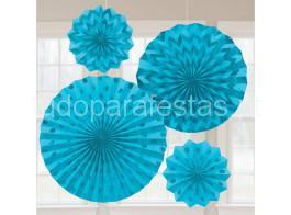 rosetas azul glitter