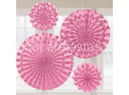 rosetas rosa glitter