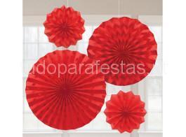 rosetas vermelha glitter