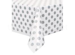 toalha bolinhas prateada