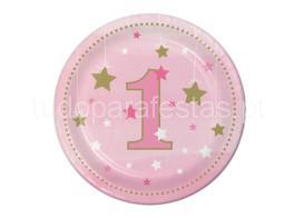twinkle rosa pratos 17cm