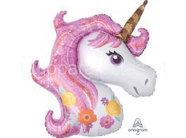 unicornio balao cabeca rosa
